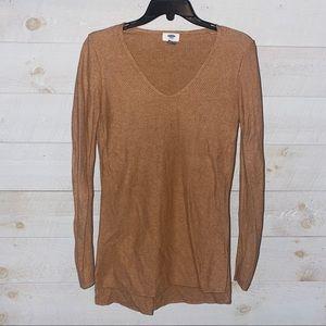OLD NAVY Women's Tan Lightweight Knit V-Neck Sweater Size S